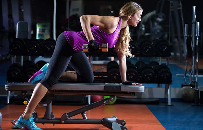Lose Fat From Arms - Triceps Kickback