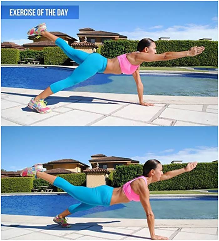 Lose Fat From Arms - Opposite Arm And Leg Lift
