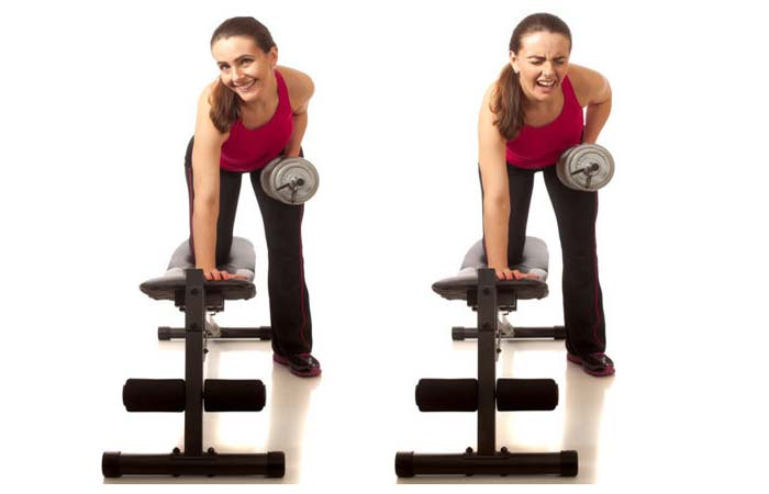 Lose Fat From Arms - Dumbbell Bent Over Reverse Flies