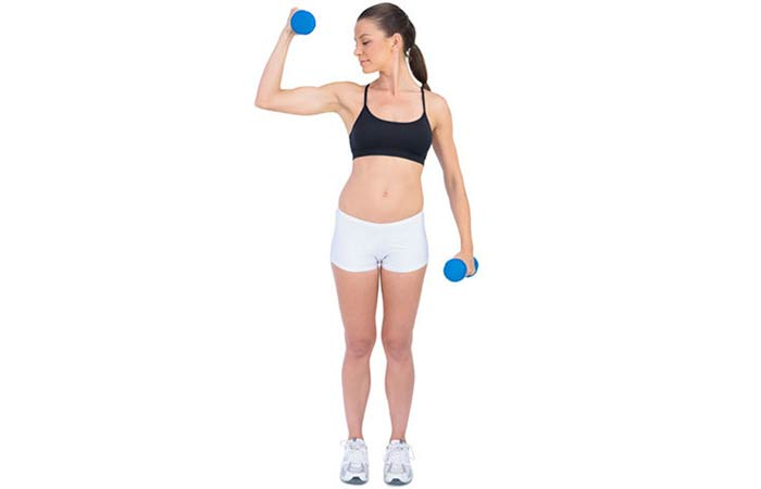 Lose Fat From Arms - Diagonal Raises