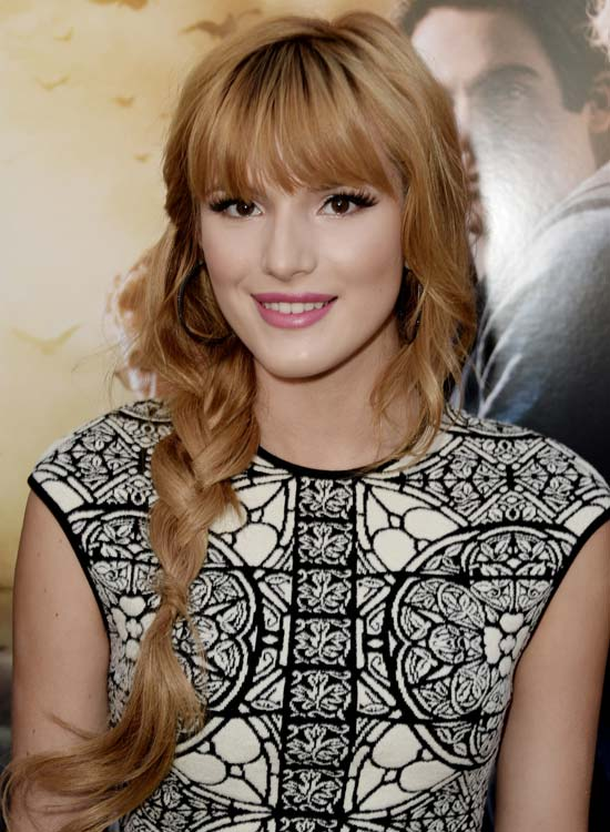 25. Loose Wavy Side Braid With Bang And Fringes