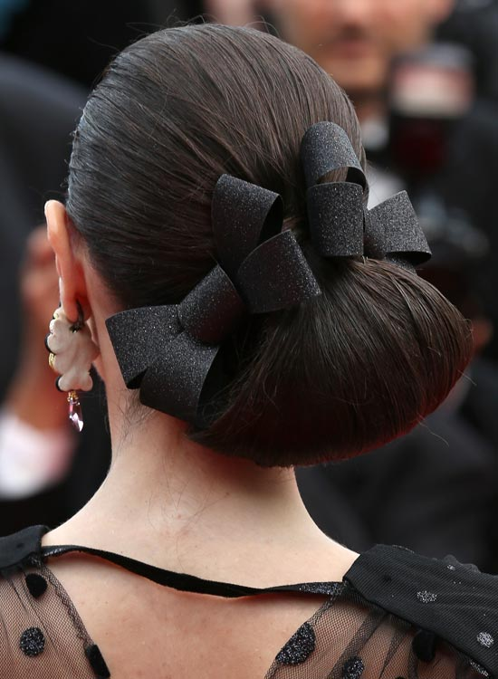 Bun Hairstyles For Long Hair - Low-Side-Angular-Loop-Bun
