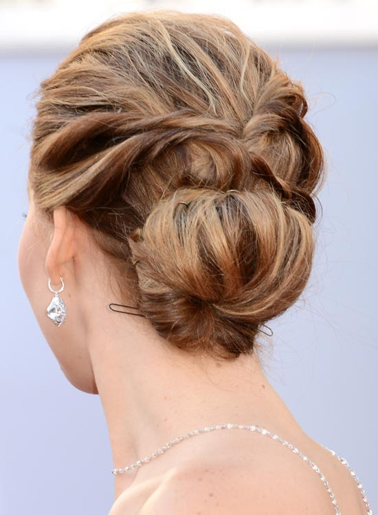 Attractive Bun Hairstyles For Long Hair   Low Textured Bun With Twisted  Pinit