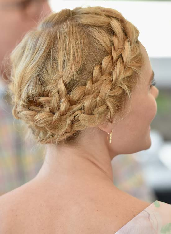 Messy-Blonde-Hair-with-Double-Braided-Wraparound