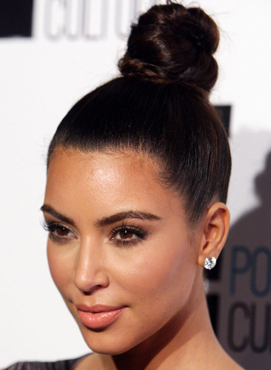 Bun Hairstyles For Long Hair   Simple Twisted Topknot Bun Pinit