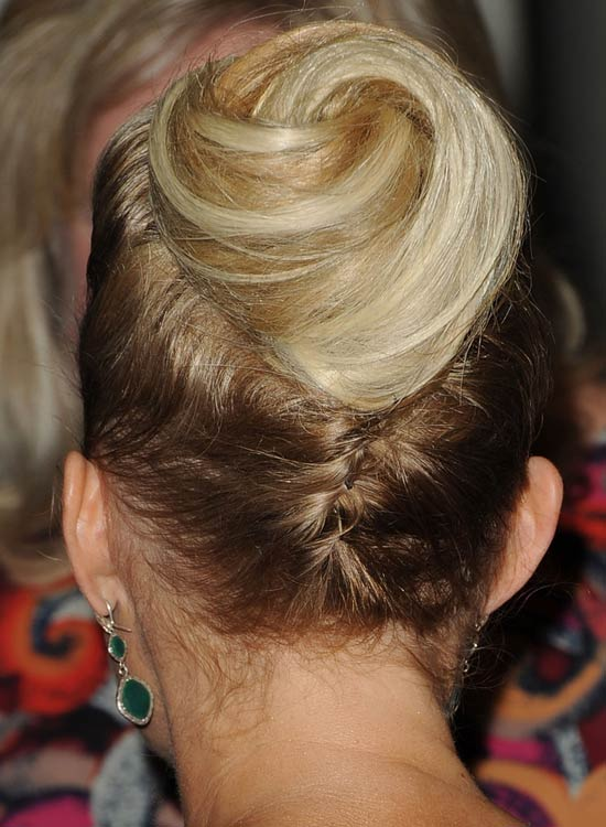 Bun Hairstyles For Long Hair - Spiral-Bun-at-the-End-of-Twisted-Braid