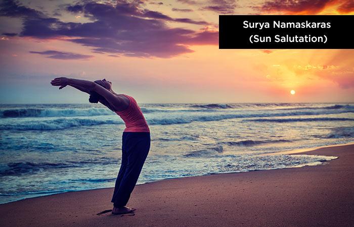Surya Namaskaras (Sun-Salutation) - yoga for increasing height