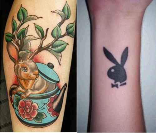 Bunny Rabbit Tattoo Designs