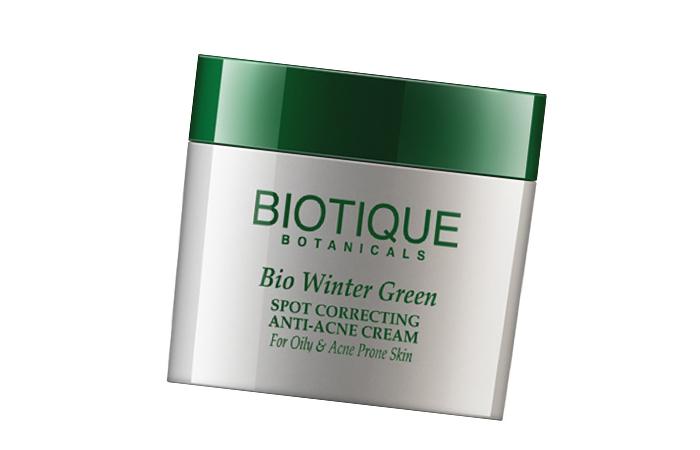 Acne And Pimple Creams - Biotique Bio Winter Green Spot Correcting Anti-Acne Cream