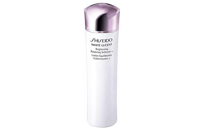 Best Toners For Dry Skin - Shiseido White Lucent Brightening Balancing Softener