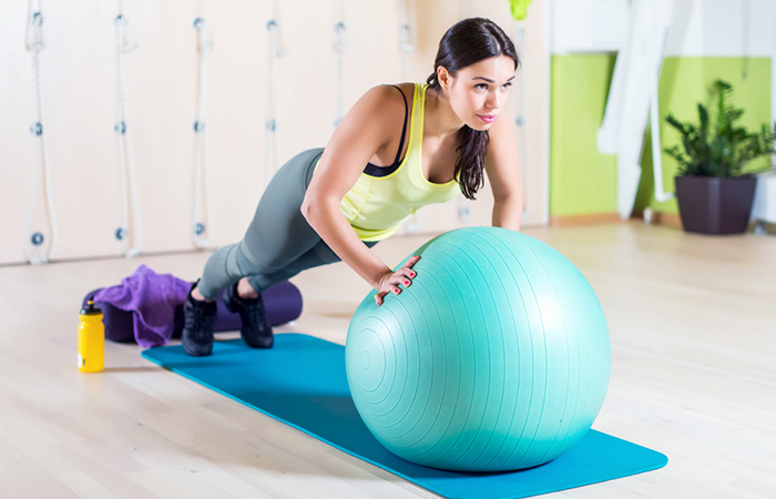 Triceps Exercises - Ball Push-Ups