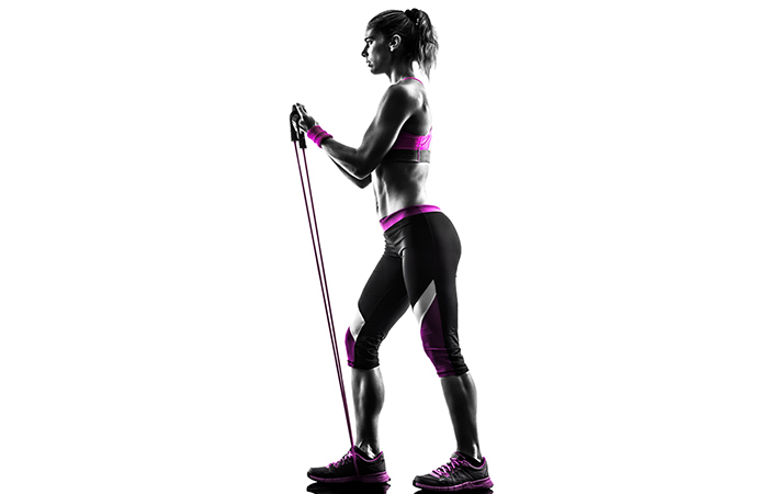 Triceps Exercises - Triceps Press With Resistance Band