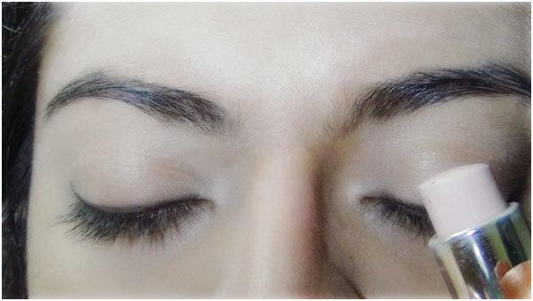 Gothic Eye Makeup - Step 1: Apply Concealer on Clean Eyelids