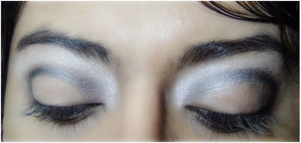 Gothic Eye Makeup Tutorial - Step 3: Apply the Burnt Shimmer Grey