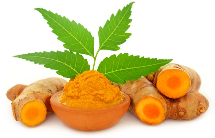 Turmeric for Acne - Neem Leaves And Turmeric