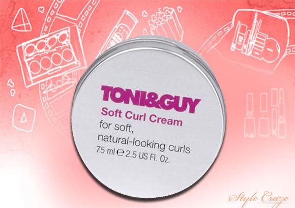 toni & guy soft curl cream hair styler