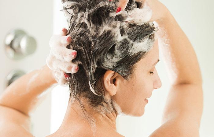 1. Shampoo With Salt For Dandruff