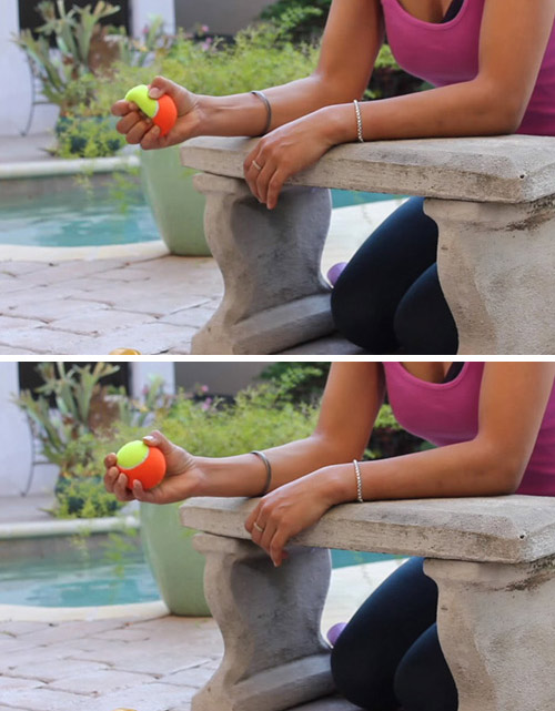 10. Wrist Exercise With Tennis Ball