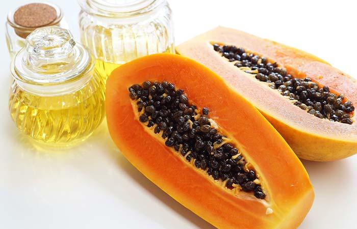 4. Vitamin E, Papaya, And Honey For Glowing Skin
