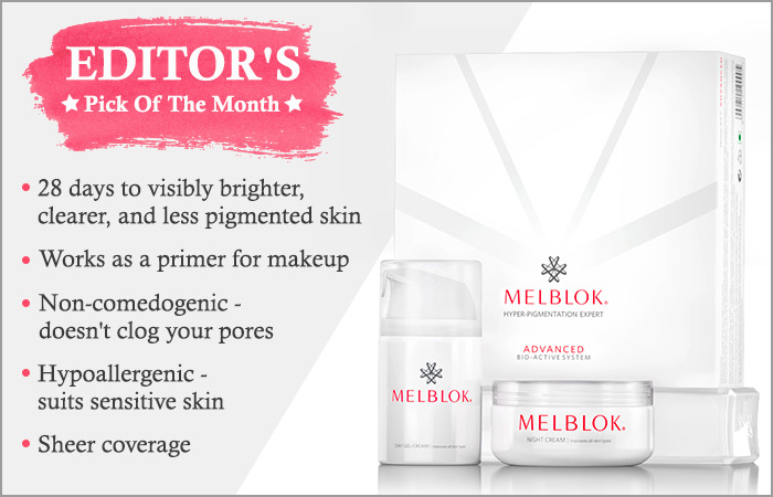 Melblok Skincare Products for Pigmentation