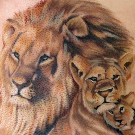 The Lion Pride Tattoo