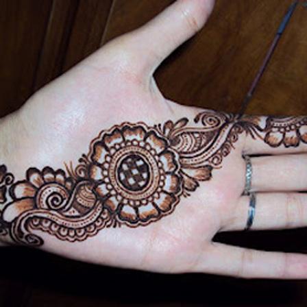 floral mehndi designs for wedding
