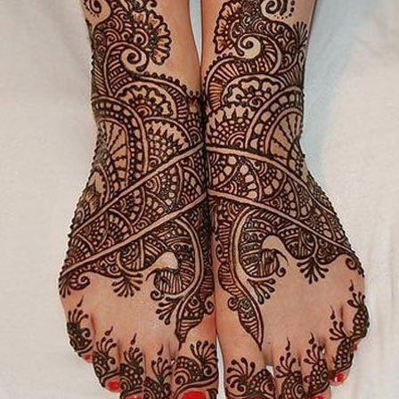 mehndi design for foot
