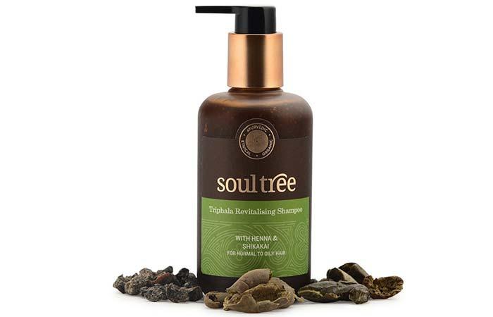 1. Soultree Triphala Revitalizing Shampoo With Henna And Shikakai