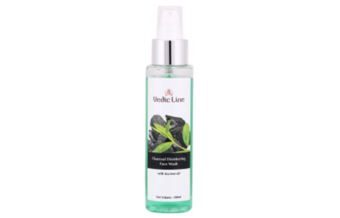 3. Vedic Line Charcoal Disinfecting Face Wash