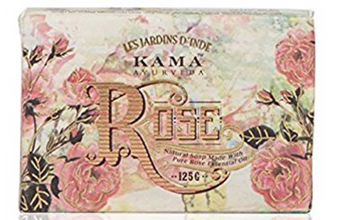 Best Soaps For Sensitive Skin - Kama Ayurveda Natural Rose Soap