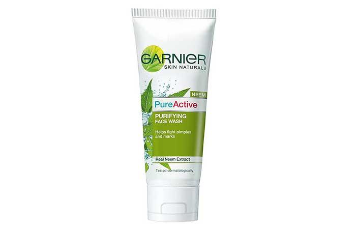 4. Garnier Skin Naturals Pure Active Neem Face Wash