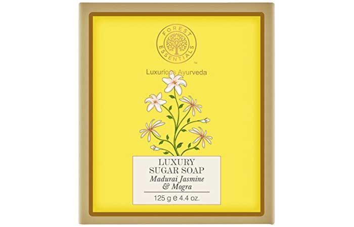 Best Soaps For Sensitive Skin - Forest Essentials Jasmine And Mogra Sugar Soap