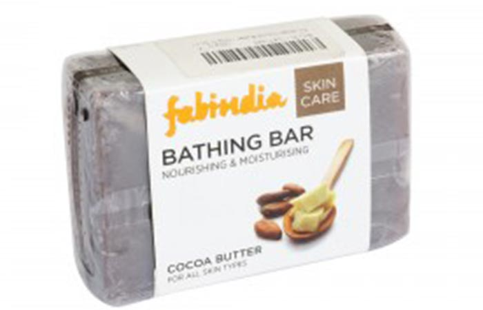 Best Soaps For Sensitive Skin - Fabindia Cocoa Butter Soap