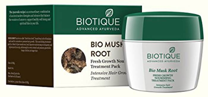 Biotique Bio Musk Root Fresh Growth Nourishing Treatment Pack