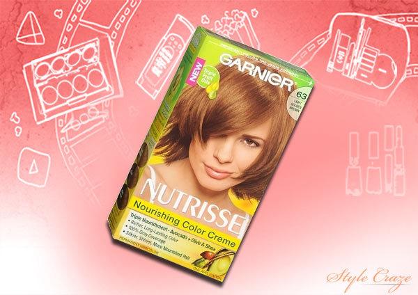 garnier nutrisse level 3 permanent creme hair color, golden brown b3 (cafe con leche)