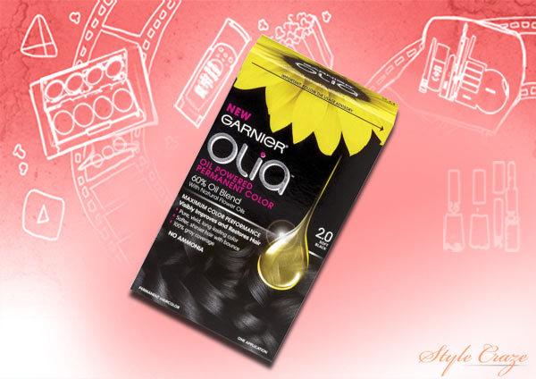 garnier olia oil powered permanent haircolor, 4.3 dark golden brown