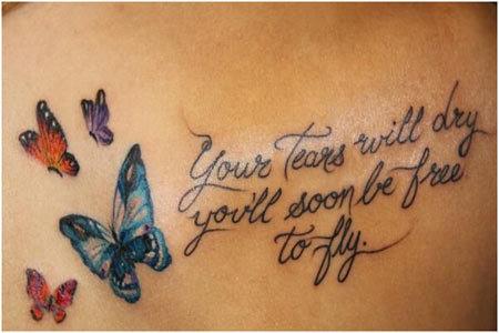 Inspiring Message Tattoo