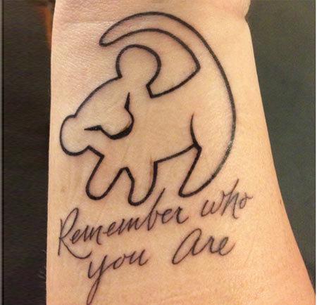 Lion King Inspirational Tattoo