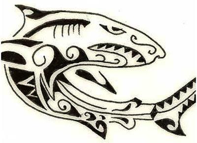 hawaiian shark tattoo