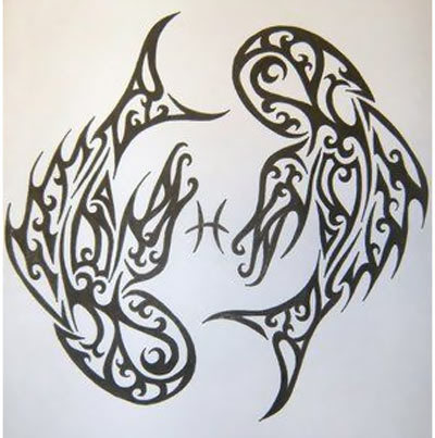 tribal pisces tattoo designs