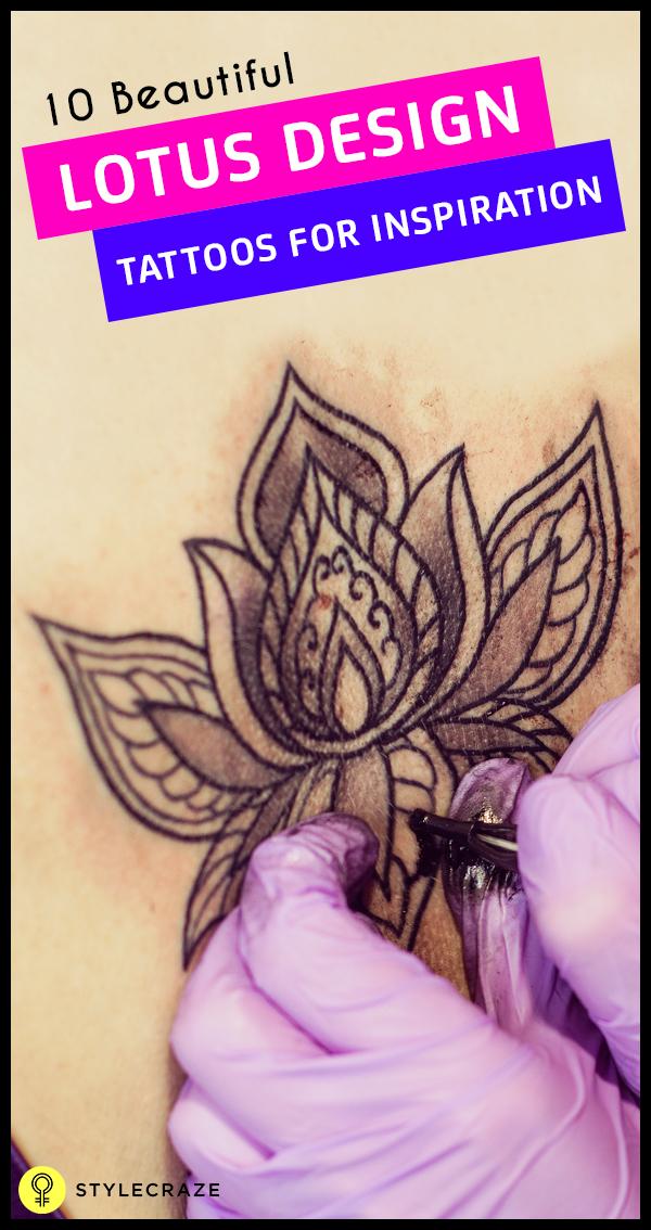 10 Beautiful lotus design tatoos for inspirations