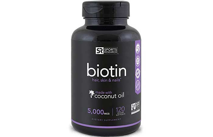 Hair Growth Supplements - Sports Research Biotin High Potency Supplement