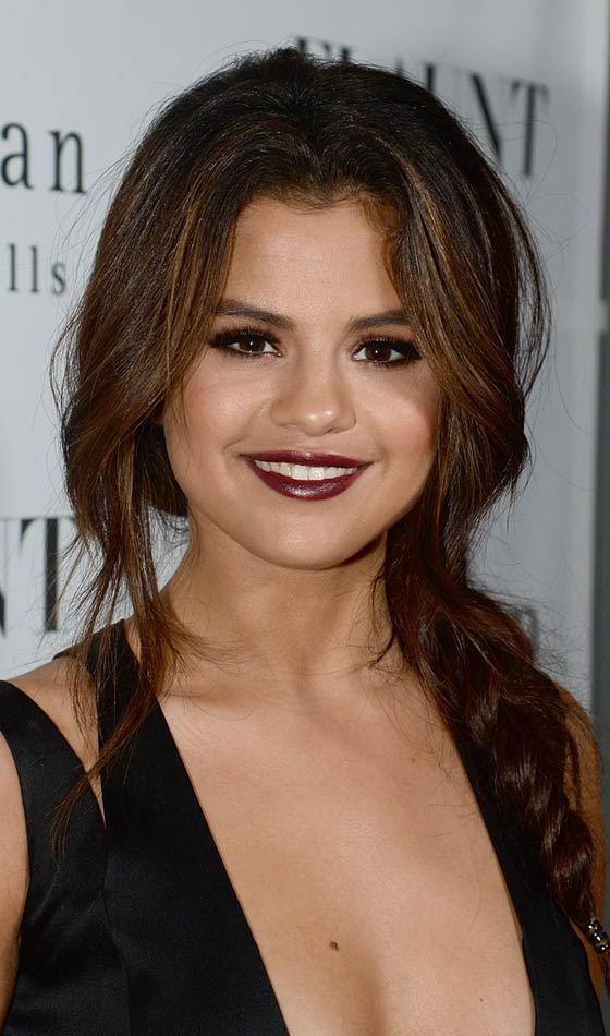 Top Selena Gomez Hairstyles - Braided pony