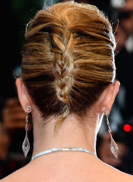 Double French Twist With Braided Style