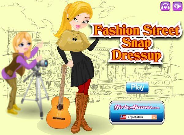 fashion street snap dress up