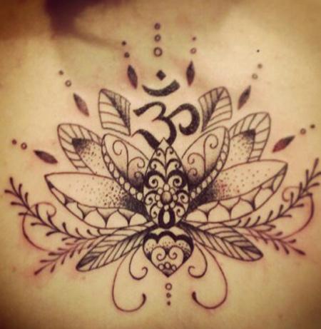 Lotus with Aum Tattoo