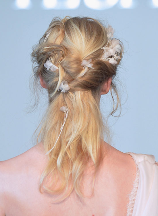 Messy Twisted Half Hairdo