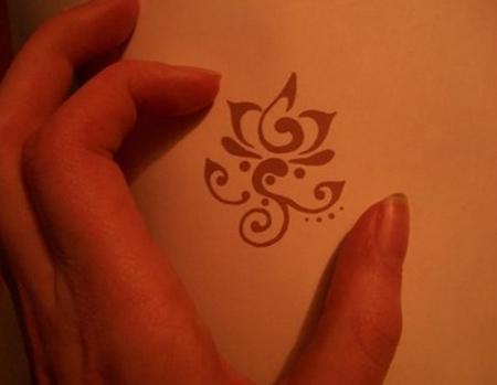 Miniature Red Lotus Tattoo