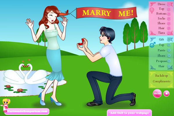 proposal dress up