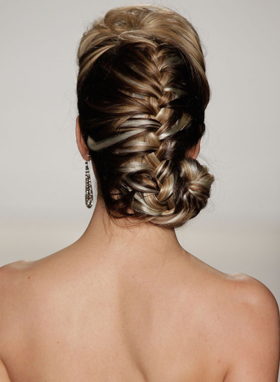 Puffy French Braid With Spiral End